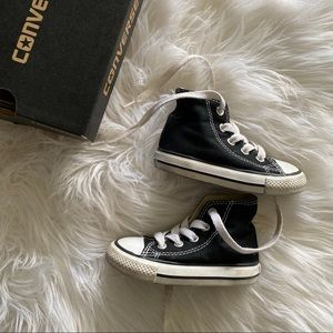 Toddler size 5 black and white converse